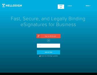 Thumbshot of Hellosign.com