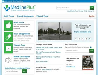medlineplus.gov screenshot