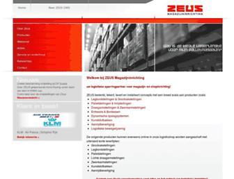 zeusmagazijninrichting.nl screenshot