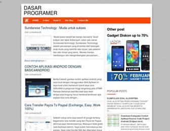 dasarprogramer.blogspot.com screenshot