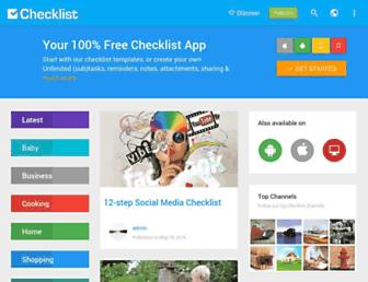 checklist.com screenshot