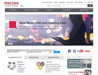 Thumbshot of Ricoh-usa.com