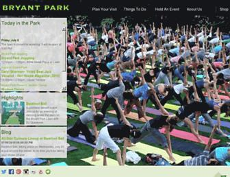 bryantpark.org screenshot