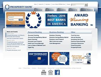 Thumbshot of Prosperitybanktx.com