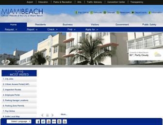 miamibeachfl.gov screenshot