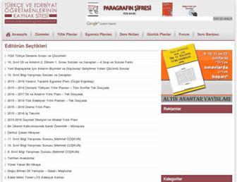 Main page screenshot of edebiyatogretmeni.net