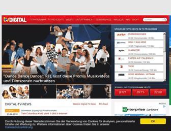 Main page screenshot of tvdigital.de