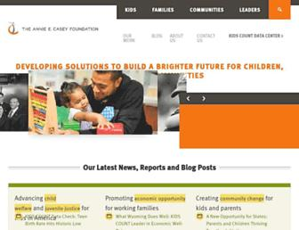 Main page screenshot of aecf.org