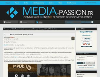 Main page screenshot of passion-xbmc.org
