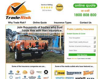 traderisk.com.au screenshot