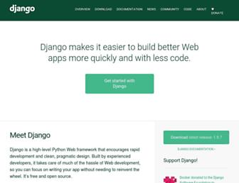 Thumbshot of Djangoproject.com