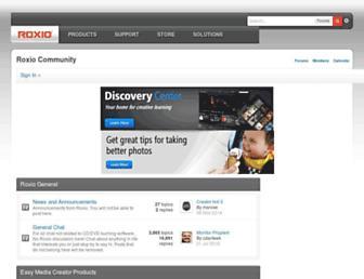 forums.support.roxio.com screenshot