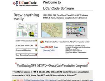 Main page screenshot of ucancode.net