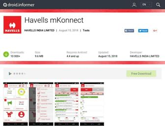 havells-mkonnect.droidinformer.org screenshot