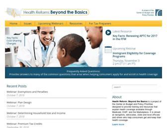 healthreformbeyondthebasics.org screenshot