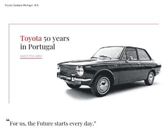 Main page screenshot of toyotacaetano.pt