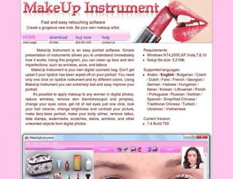 makeupinstrument.com screenshot