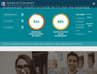 Main page screenshot of american.edu