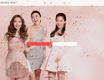 Main page screenshot of marykayintouch.com.cn