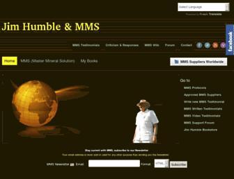 Main page screenshot of jimhumble.biz