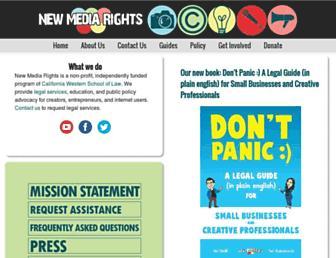 newmediarights.org screenshot