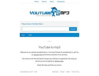 youtube2mp3.cc screenshot