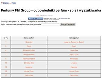 spisperfum.pl screenshot