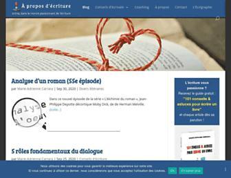 aproposdecriture.com screenshot