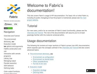 docs.fabfile.org screenshot
