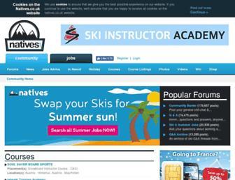 Main page screenshot of natives.co.uk