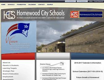 homewood.k12.al.us screenshot