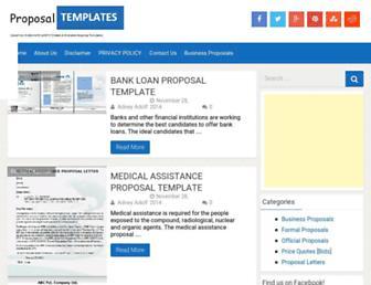proposal-templates.com screenshot