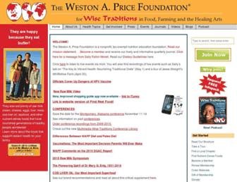 Main page screenshot of westonaprice.org