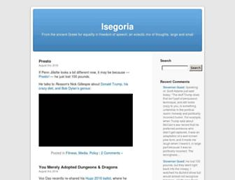 Main page screenshot of isegoria.net
