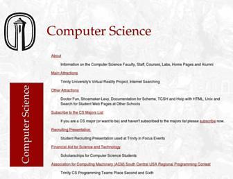 cs.trinity.edu screenshot