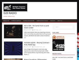 d20radio.com screenshot