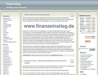 Main page screenshot of finanzen-weltweit.de