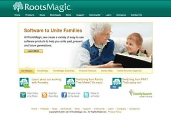 rootsmagic.com screenshot