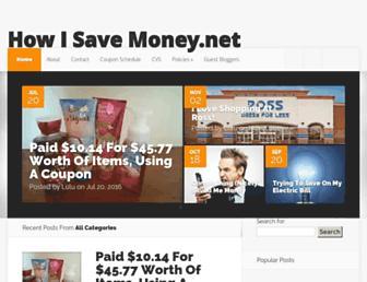 Main page screenshot of howisavemoney.net