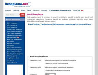 kredi.hesaplama.net screenshot