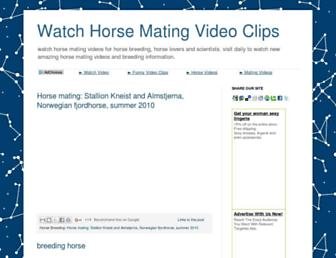 horsematingvideo.blogspot.com screenshot