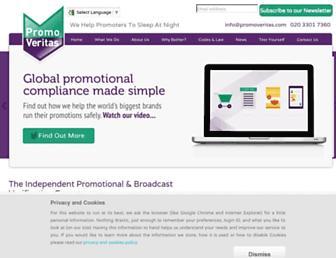 promoveritas.com screenshot