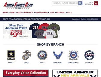 Thumbshot of Armedforcesgear.com