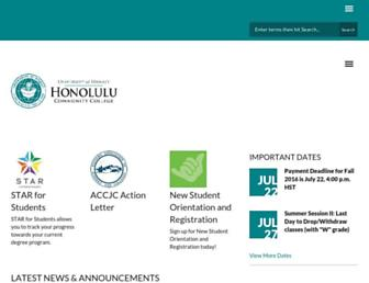 honolulu.hawaii.edu screenshot