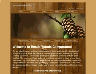 rusticwoodscampground.com screenshot