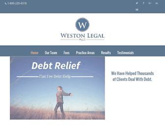 westonlegal.com screenshot