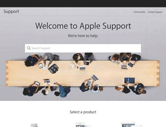 support.apple.com screenshot