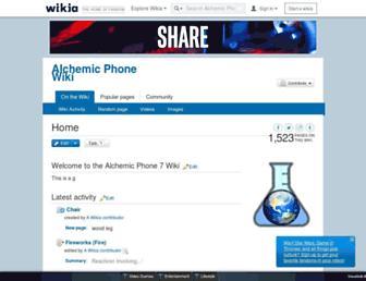 alchemicphone.wikia.com screenshot