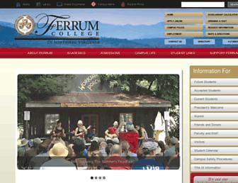 Main page screenshot of www2.ferrum.edu