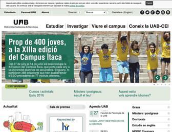 Main page screenshot of uab.cat